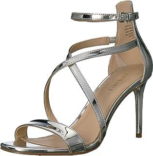 81d5f53c16 Amazon.com | Nine West Women's Gerbera Metallic Heeled Sandal, Gold ...