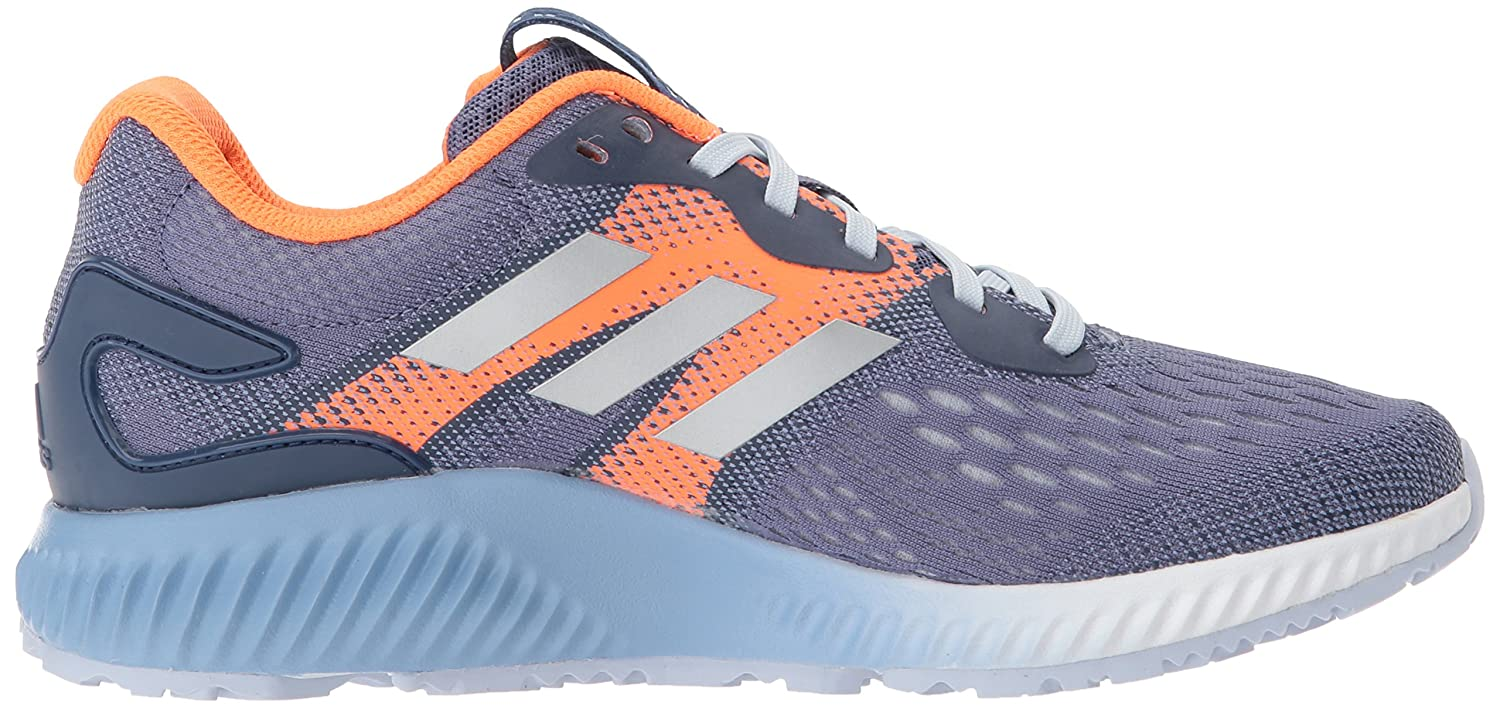 adidas Women's Aerobounce W Running Shoe B0728B66Z6 6.5 B(M) US|Raw Indigo/Metallic Silver/Hi-res Orange