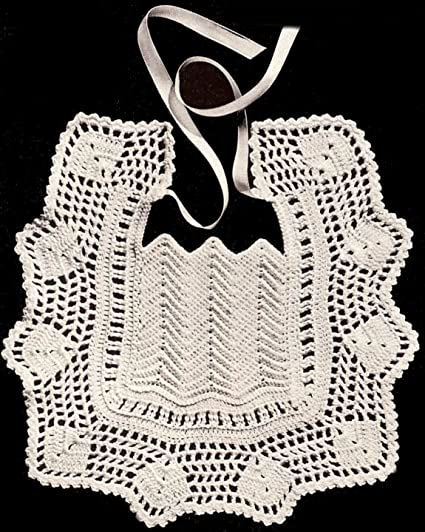 Amazon Vintage Antique Crochet Pattern To Make Baby Bib Rare