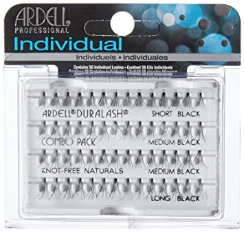 fd2625992fc Amazon.com : Ardell DuraLash Individual Long Flare Lashes, Black 56 ea :  Fake Eyelashes And Adhesives : Beauty