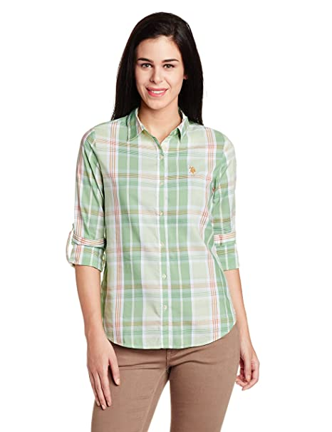 U.S.Polo Assn. Women's Button Down Shirt Shirts at amazon
