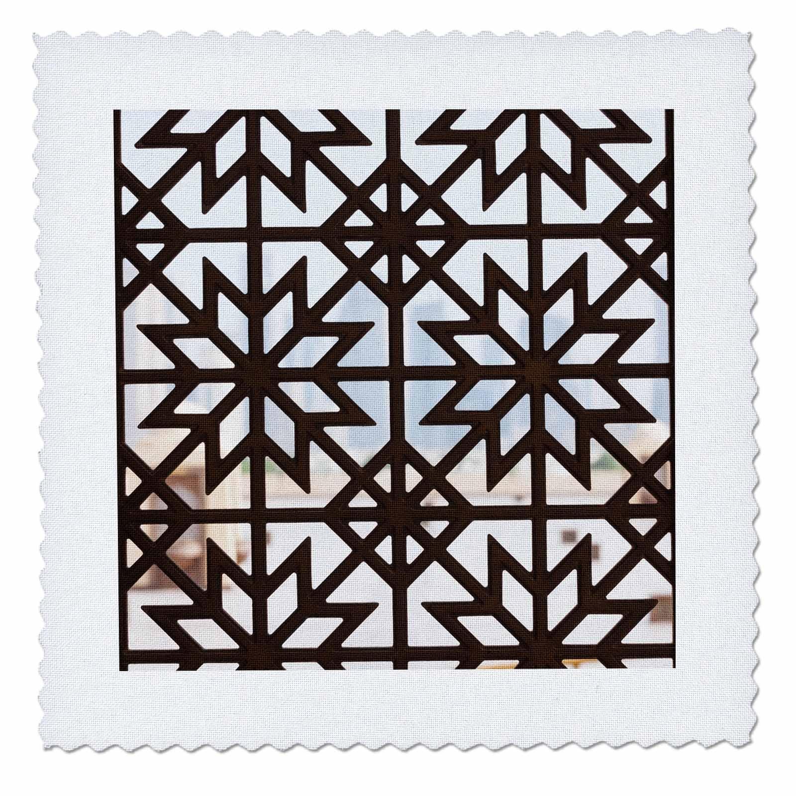 3dRose Danita Delimont - Patterns - Qatar, Doha, Abdul Wahhab Mosque, window detail - 22x22 inch quilt square (qs_257254_9)