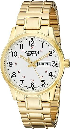 citizen flache uhr herren gold