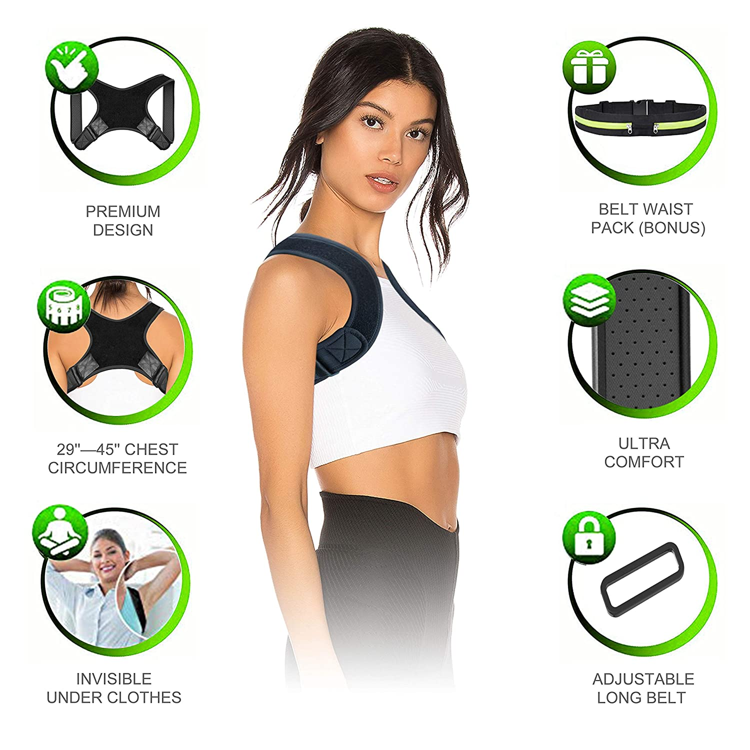 Posture Corrector for Women /& Men Adjustable and Comfortable Clavicle Brace FDA Approved Posture Fixer 2019 New version Amdieu Back Brace for Perfect Posture