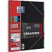 Oxford - 400019523 - Organiser Book - Cahier + Trieur - 160 Pages - Coloris Aléatoire