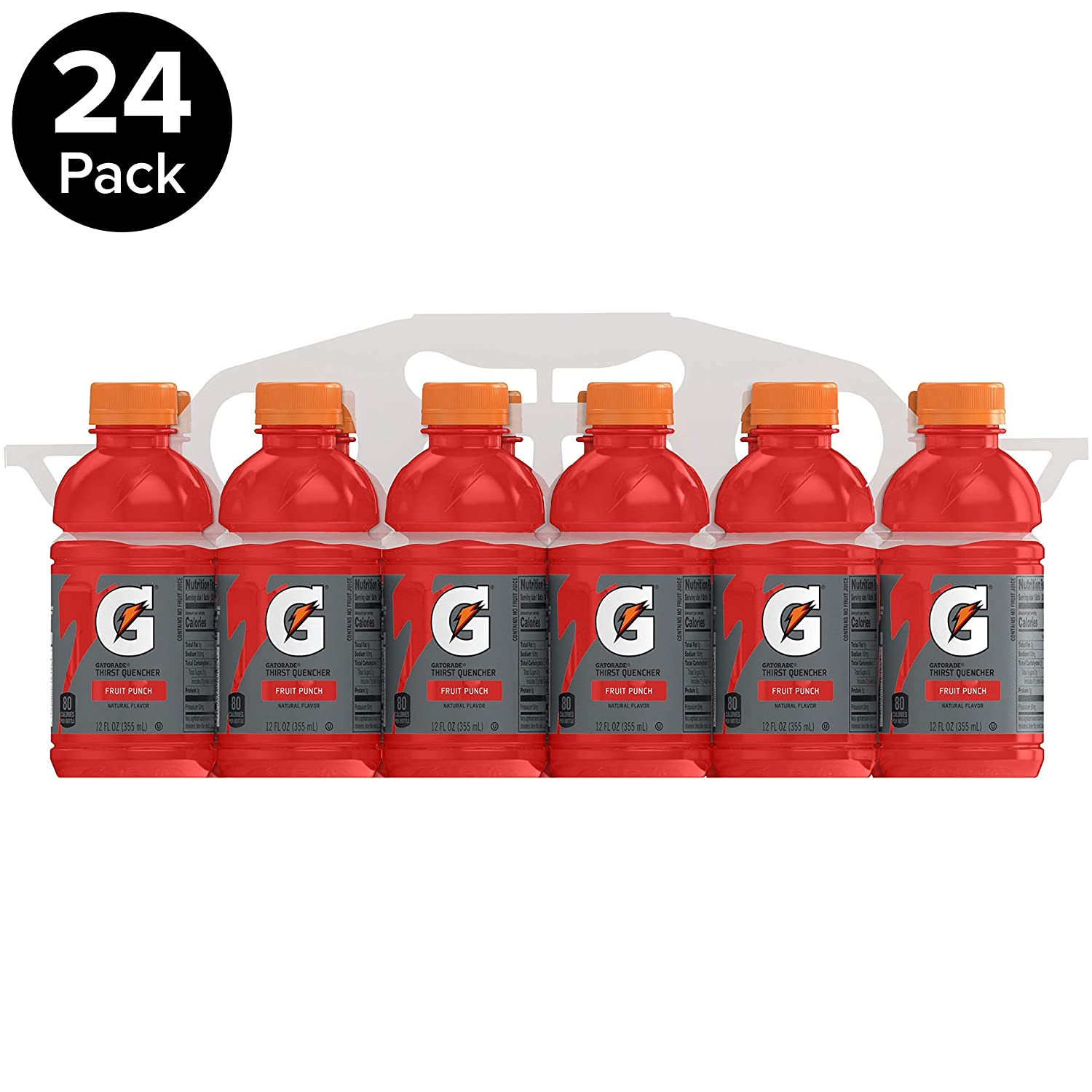 Gatorade Thirst Quencher, Fruit Punch, 12 Ounce Bottles (Pack of 24)