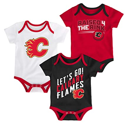 Outerstuff NHL Calgary Flames Newborn   Infant Power Play Onesie Set (3 Pack ) bf6a09f13