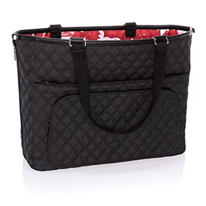 c4c383cac8 Amazon.com  Thirty One Double Take Tote in Black Quilted Diamonds ...