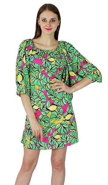 SEASHORE vestido informal de verano de algodón estampado nuevas mujeres túnica partido vestido de verano playa