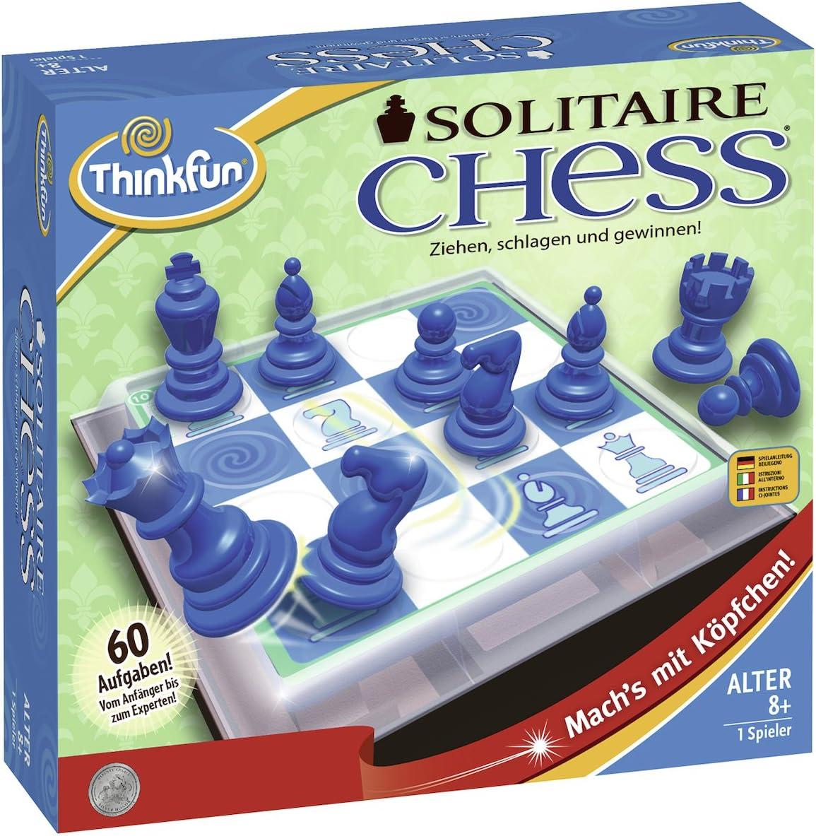 ThinkFun 76325 Soitaire Chess - Juego de Pensamiento