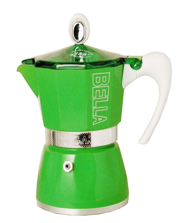 European Gift & Houseware 10-4806 Bella Espressokocher, 6 Tassen, Tropics Green