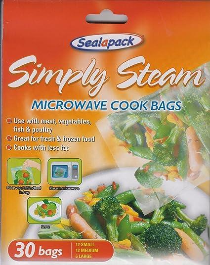 30 X Bolsas Simply Steam para Cocinar en Microondas ...
