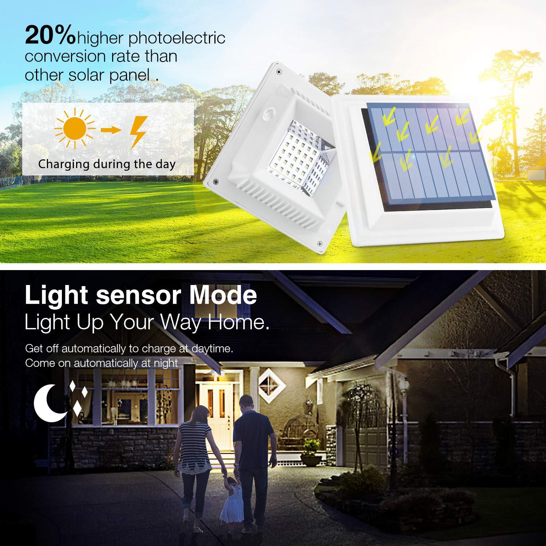 2er Set Solarlampen für Außen 25LEDs Zaunleuchten mit Tageslichtsensor WarmWeiß