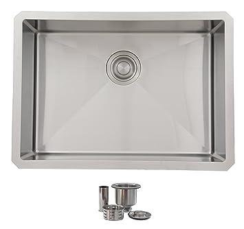 25 inch undermount single bowl kitchen sink by stylish 18 gauge stainless steel10mm 25 inch undermount single bowl kitchen sink by stylish 18 gauge      rh   amazon ca