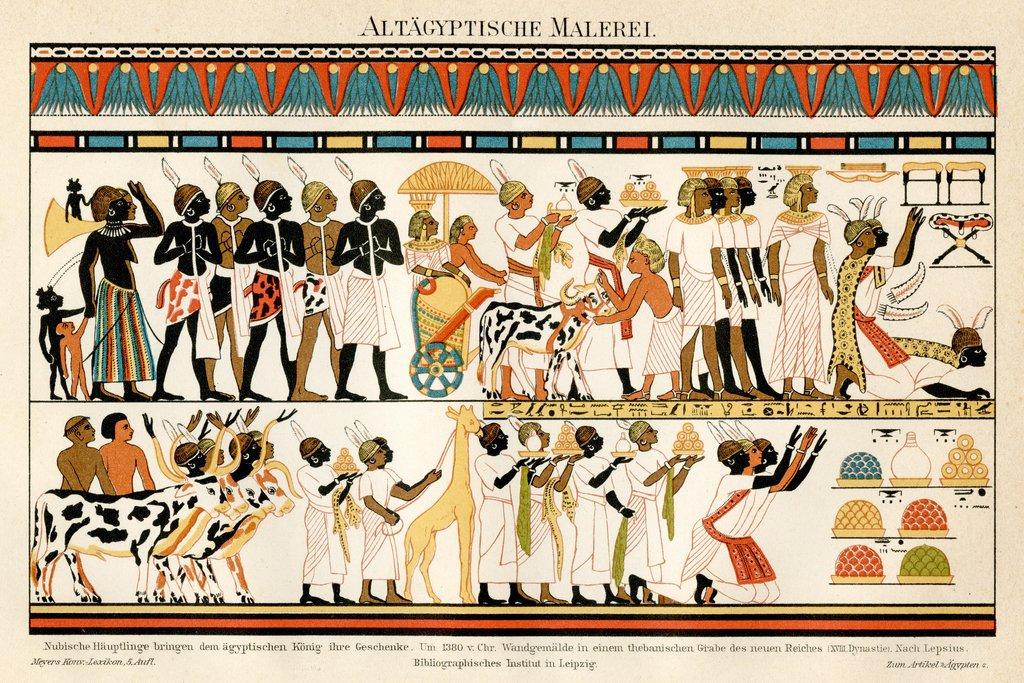 Ancient Egyptian Hieroglyphics 1895 Art Print Poster 46x30 cm ...