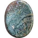 3786 Gemstone Bead Connector Polished 35mm x 50mm Jasper Stone Center Drilled Druzy Pendant Snake Skin Jasper Bead Oval