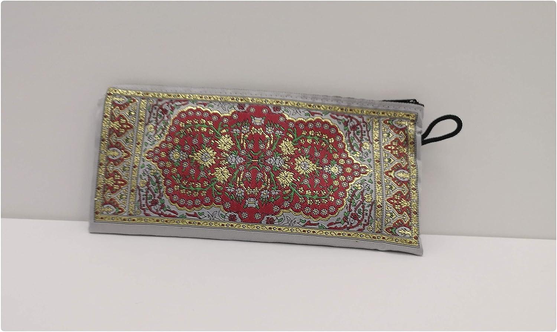 Borsa//portamatite alla moda 20,5 cm x 10 cm motivo etnico Kilim ricamato
