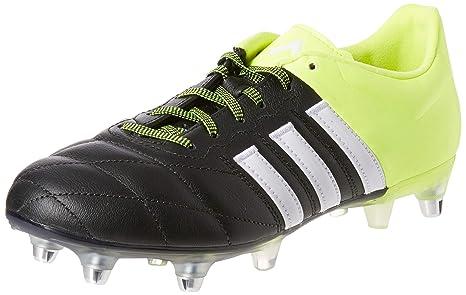 Ace Nero 15 Da Sg Pelle 40 Uomo Calcio Scarpe Adidas 2 Taglia AjR54L