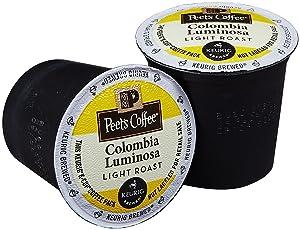 Peet's Coffee Colombia Luminosa Light Roast K Cup Coffee for Keurig K-Cup Brewers 40 count