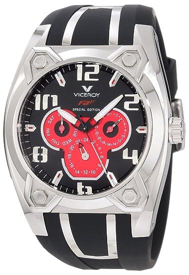 Viceroy 47615-75 - Reloj de Pulsera Hombre, Caucho, Color Negro: Amazon.es: Relojes