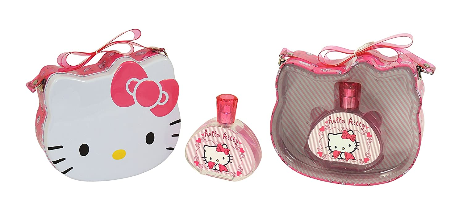 Hello Kitty Eau de Toilette Spray and Metal Lunch Box, 100 ml Air-Val International HLLKITF92100001