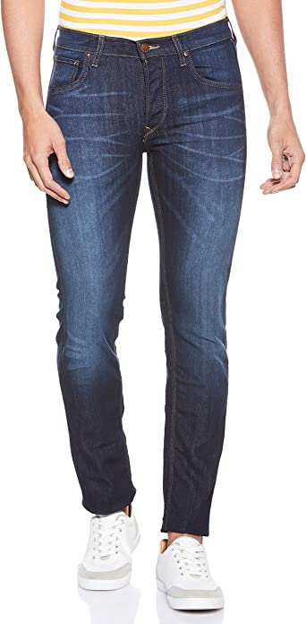 TALLA 33W / 34L. Lee Daren Button Fly Jeans para Hombre