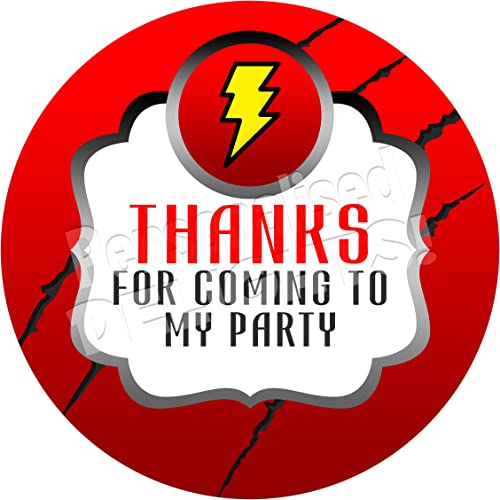 sweet bag seals Personalised superhero thank you stickers sweet cone stickers