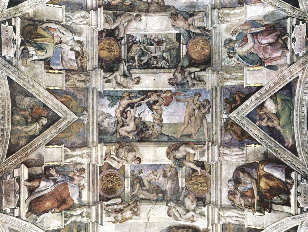Lais Puzzle Michelangelo Buonarroti - Dankopfer Noahs, Sündenfall und Vertreibung aus Dem Paradies Etc. 2000 Teile