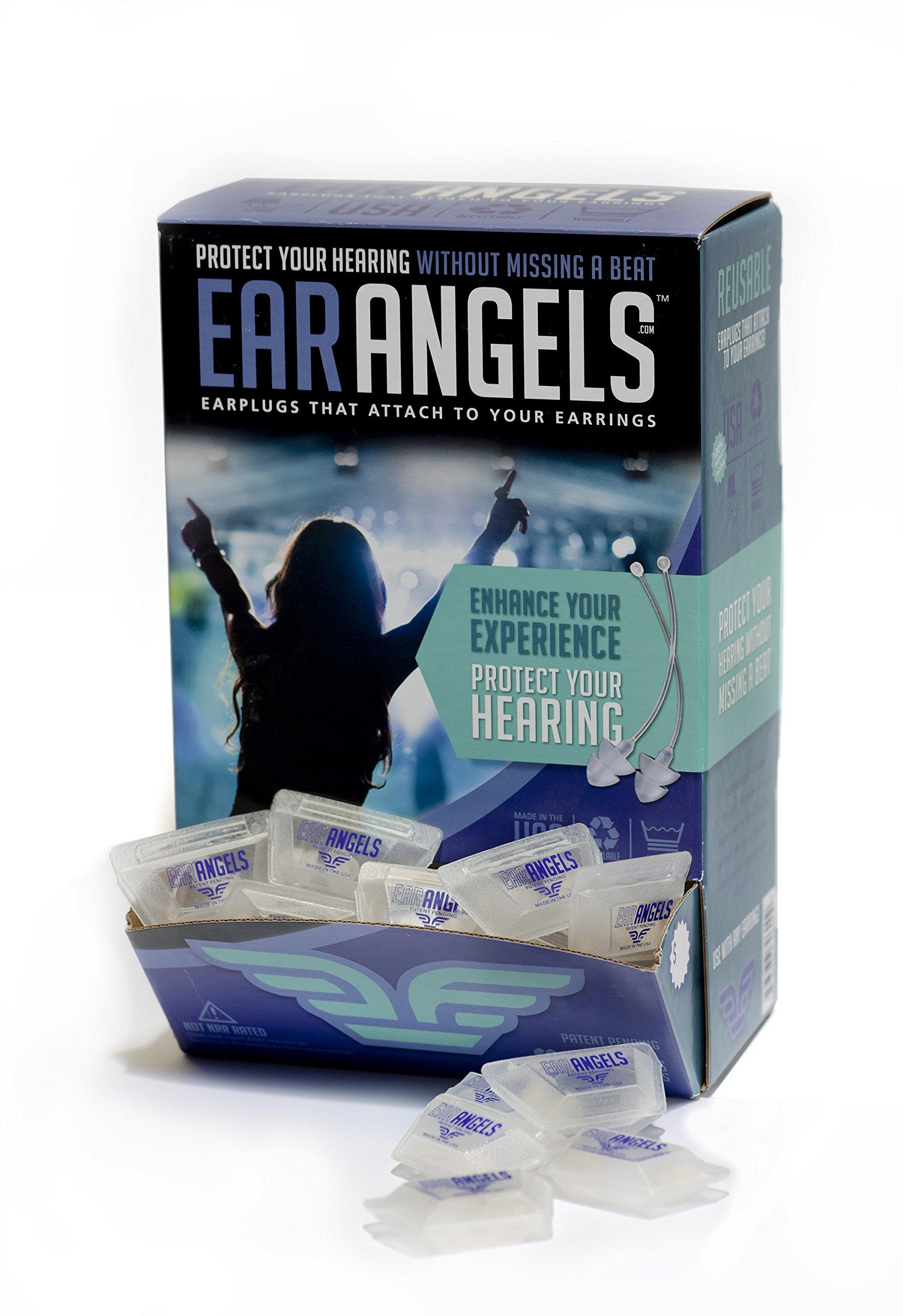 EarAngels - High Fidelity Ear Plugs for Women (100 Pair, Clear)