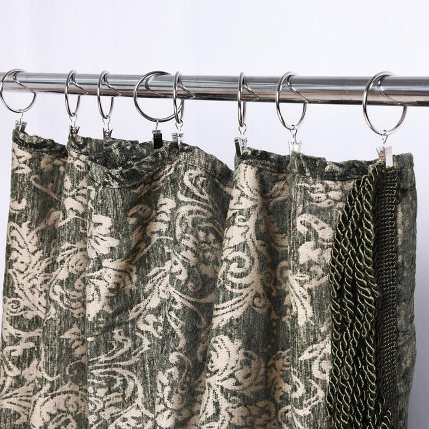 Set of 20 roman ring curtain ring curtain accessories curtain clip hook WOTOY