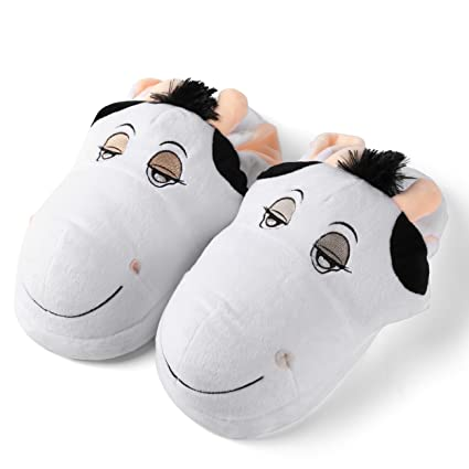 e11a56e22a1617 Image Unavailable. Image not available for. Color  Aerusi SEW20300S Kid s Animal  Plush Slippers ...