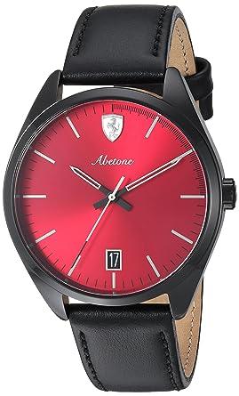 285cef3c905 Image Unavailable. Image not available for. Color  Ferrari Men s 0830499  Abetone Analog Display Quartz Black Watch