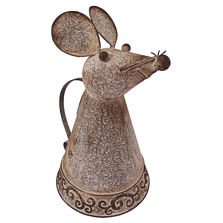 Design Toscano FU66889 Animal Aquifers Metal Mouse Watering Can, Bronze