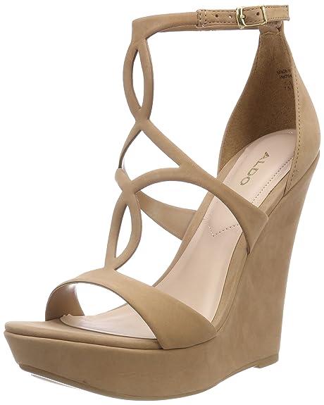 Unelinia, Zapatos con Plataforma para Mujer, Marrón (Tan Amendoea 35), 36 EU Aldo