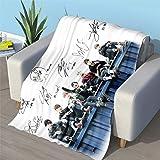 Manta de franela, súper acogedora, manta de felpa, apta para todas las estaciones (100 x 150 cm)
