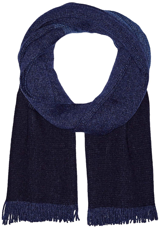Hugo Boss Men's Mandus Striped Wool Scarf, Open Blue 2 One Size BOSS Hugo Boss 50394531