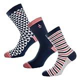Womens Original Penguin 3 Pack Socks In Multi