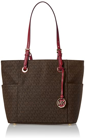 1ec7f4521de0c Image Unavailable. Image not available for. Color  Michael Kors Jet Set  Travel Small Logo Tote ...