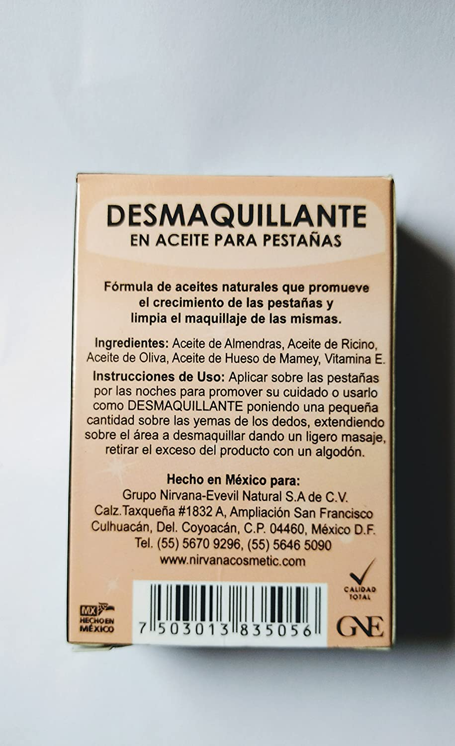 Amazon.com : Nirvana DESMAQUILLANTE lash oil treatment and makeup remover with Vitamin E : Beauty