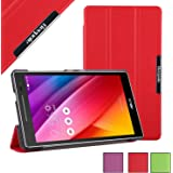 BeePole ASUS ZenPad 7.0 Custodia-Smart Cover Protettiva Tri-Folder per ASUS ZenPad C 7.0 Z170C/Z170CG/Z170MG,Rosso