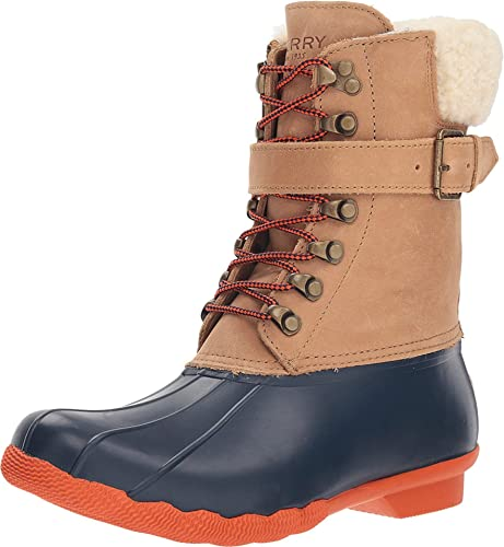 Sperry Top Sider Womens Shearwater Tan//Navy Snow Boots Size 11 1333495