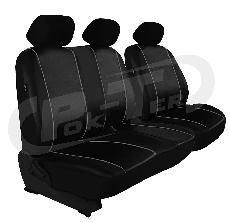 Per Renault Trafic Guarnizione per sedile conducente panca da sedile del passeggero in Eco /_ in pelle nero