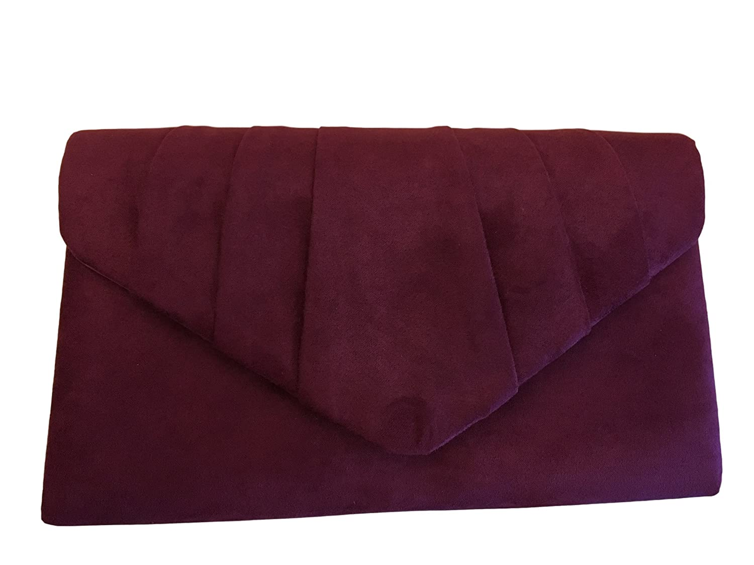 Purple Possum UK , Damen Clutch rot Burgundy, claret, wine red