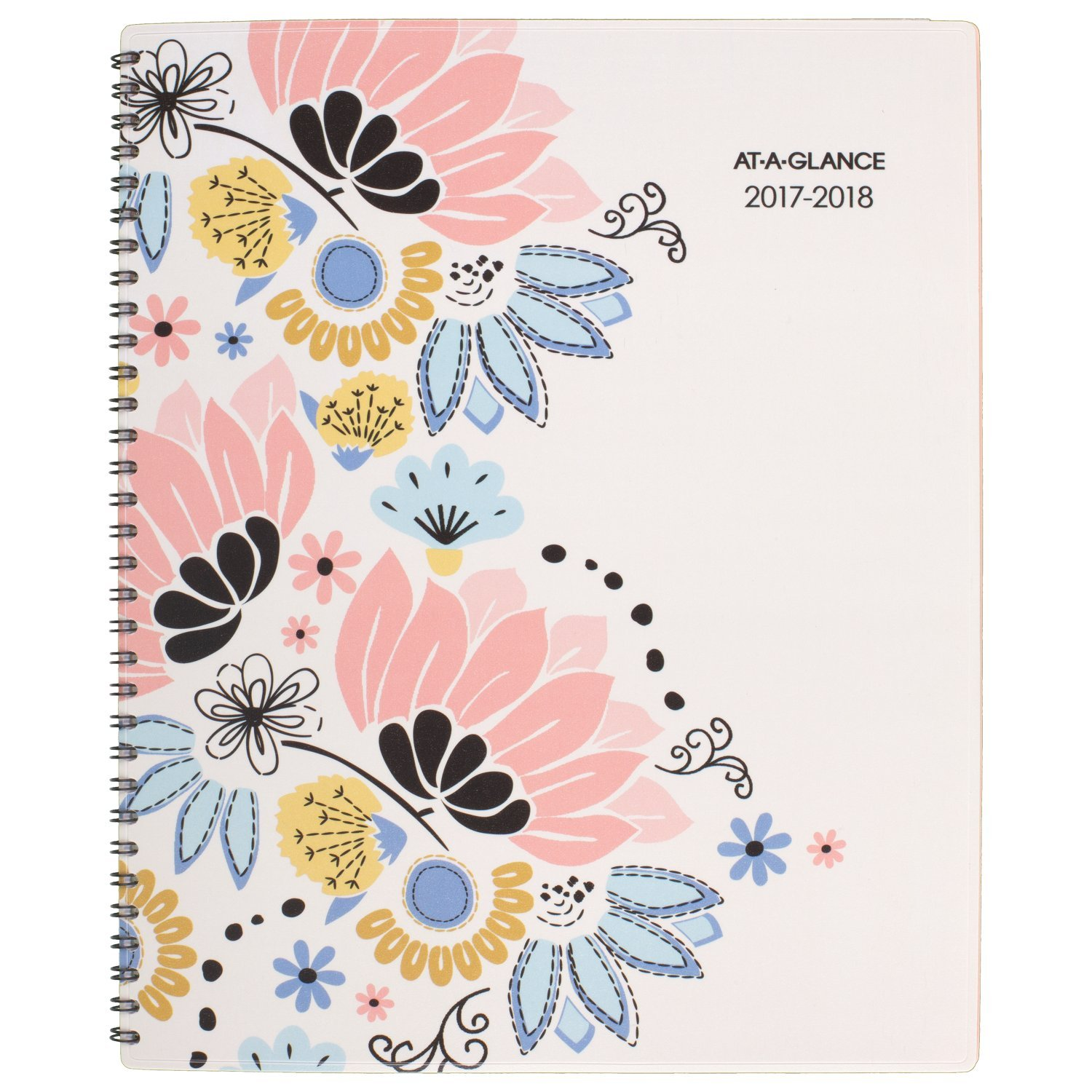 AT-A-GLANCE Academic Weekly/Monthly Planner, July 2017 - June 2018, 8-1/2'' x 11'', Claire (1014-905A)