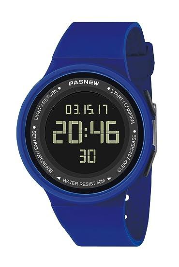 Pasnew-446 Reloj niña Mujer o niños Reloj Deportivo Digital Reloj Alarma Luz Impermeable Cronómetro multifunción de Moda.: Amazon.es: Relojes