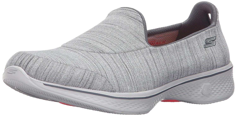 Skechers Go Walk 4-Satisfy, Zapatillas de Entrenamiento para Mujer 10 B(M) US|Gris