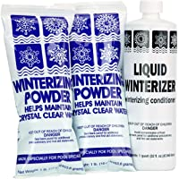 Rx Clear Winter Pool Closing Kit | Non-Chlorine Winterizing Chemicals for Above or In Ground Swimming Pools | Open to a Crystal Clear Pool in The Spring | Up to 20,000 Gallons