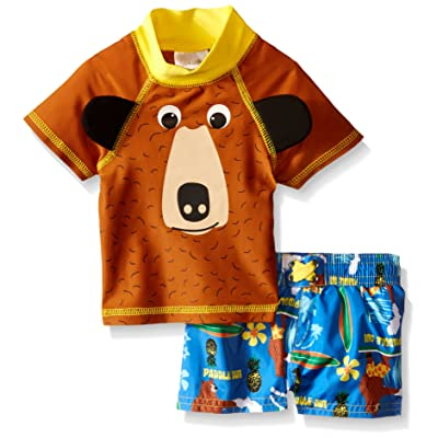 Candlesticks Baby Boys' Bear Rash Guard Set