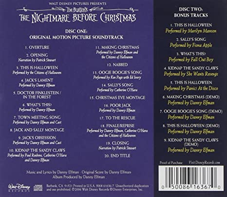 fall out boy paul reubens catherine o hara citizens of halloween patrick stewert tim burtons the nightmare before christmas amazoncom music - Nightmare Before Christmas Song