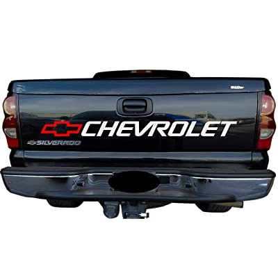Grey Metallic Decal for Chevrolet - Silverado - Colorado - Tahoe Trucks Bed or Window Sticker: Arts, Crafts & Sewing